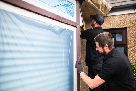 uPVC window and door spraying South Wales